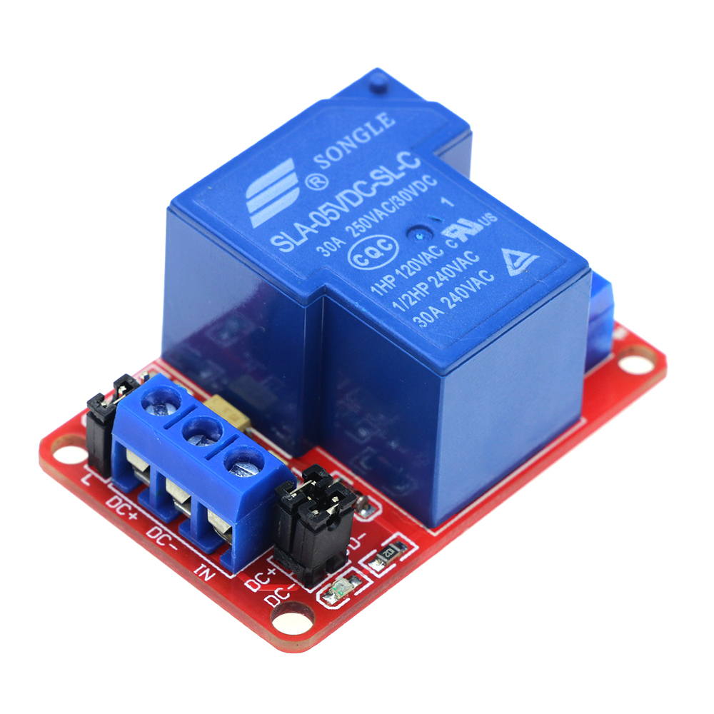 Smart Electronics 5V 30A 1-Channel Relay Module+Electronic With Optocoupler H/L Level Triger 5v 30a high power 1 channel relay module with optocoupler h l level triger for arduino mega avr pic dsp arm sla 5vdc sl a