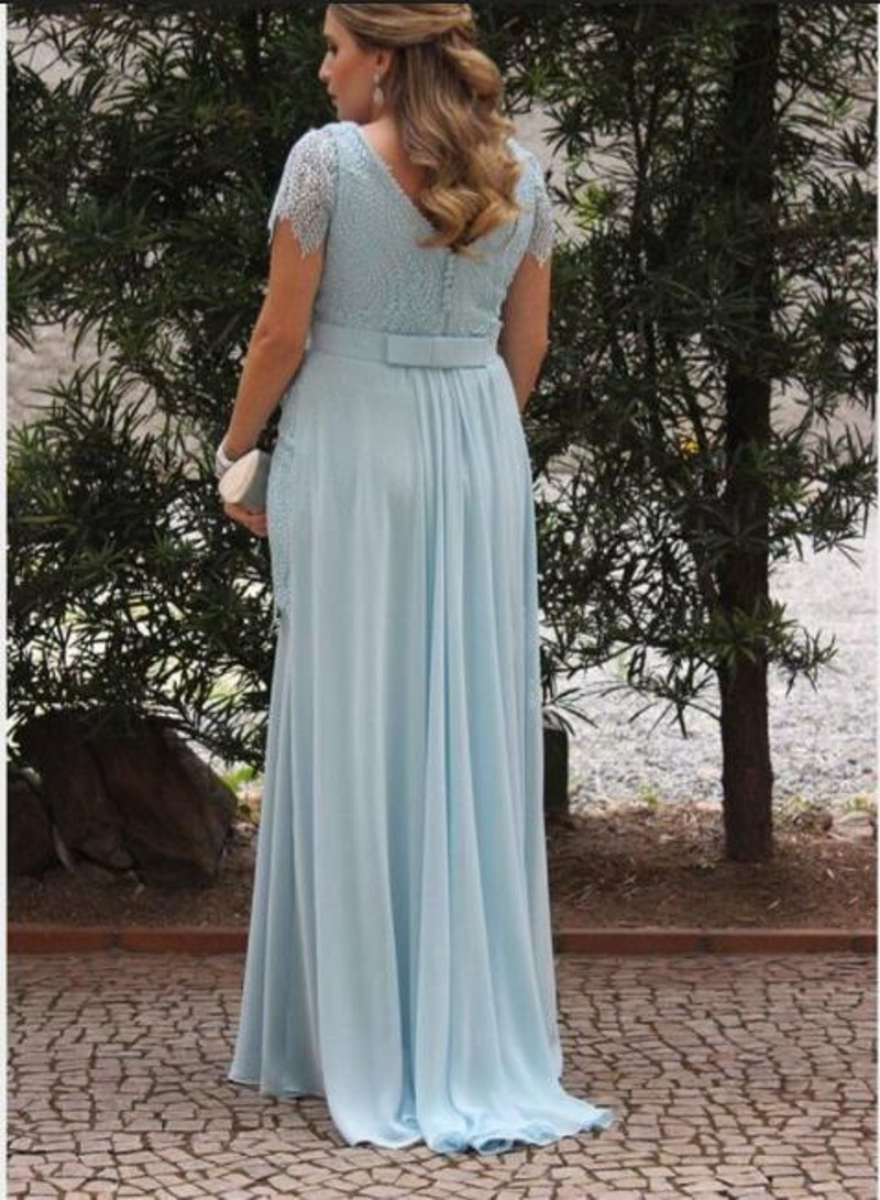 Vintage V Neck Long Chiffon Maternity Dress 2017 New Arrival Woman ...