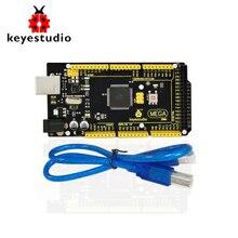 1Pcs Keyestudio MEGA 2560 R3 Development Board+ 1Pcs USB cable+Manual For Arduino Mega