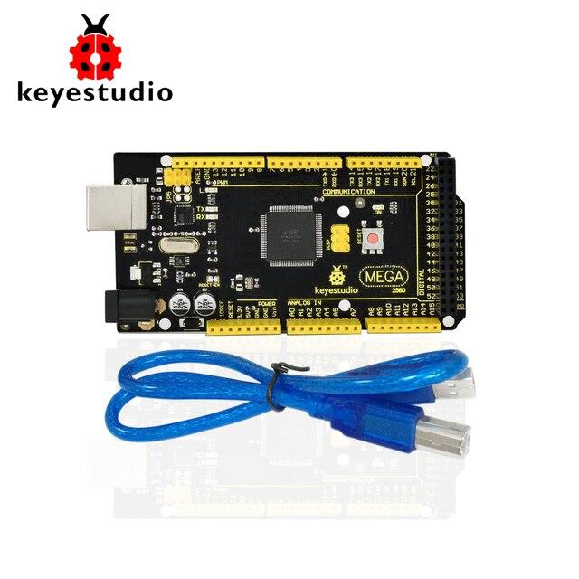 1Pcs Keyestudio 2560 R3  Development Board+ USB Cable+Manual  For Arduino Mega