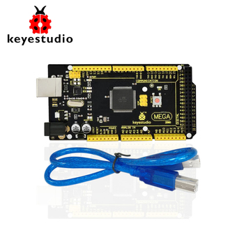 1Pcs Keyestudio MEGA 2560 R3  Development Board+ 1Pcs USB cable+Manual  For Arduino Mega цена 2017