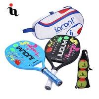 IANONI пляжные мужские теннисные ракетки три пляжный мяч пляжная сумка три набора полный углеродного волокна ЕВА пены памяти профессиональны