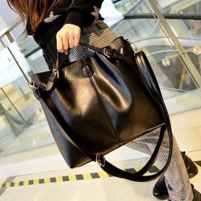2016 новый стиль соединенные Штаты и соединенные Штаты ретро простой мешок моды случайные черный ведро мешок одного плеча мешок