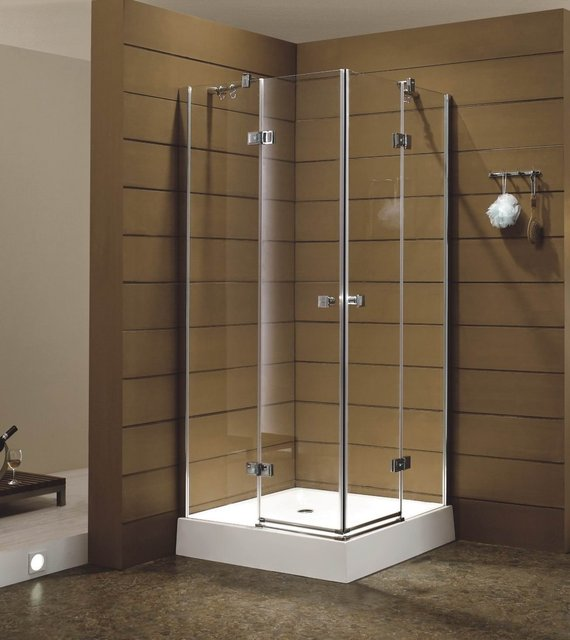 Simple & Generous Hinge shower door in tempered glass,packed in ...