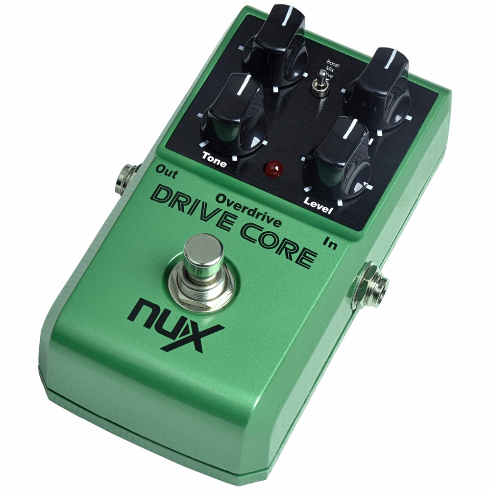 nux drive core high gain guitar overdrive effects pedal with booster effect large adjustable. Black Bedroom Furniture Sets. Home Design Ideas