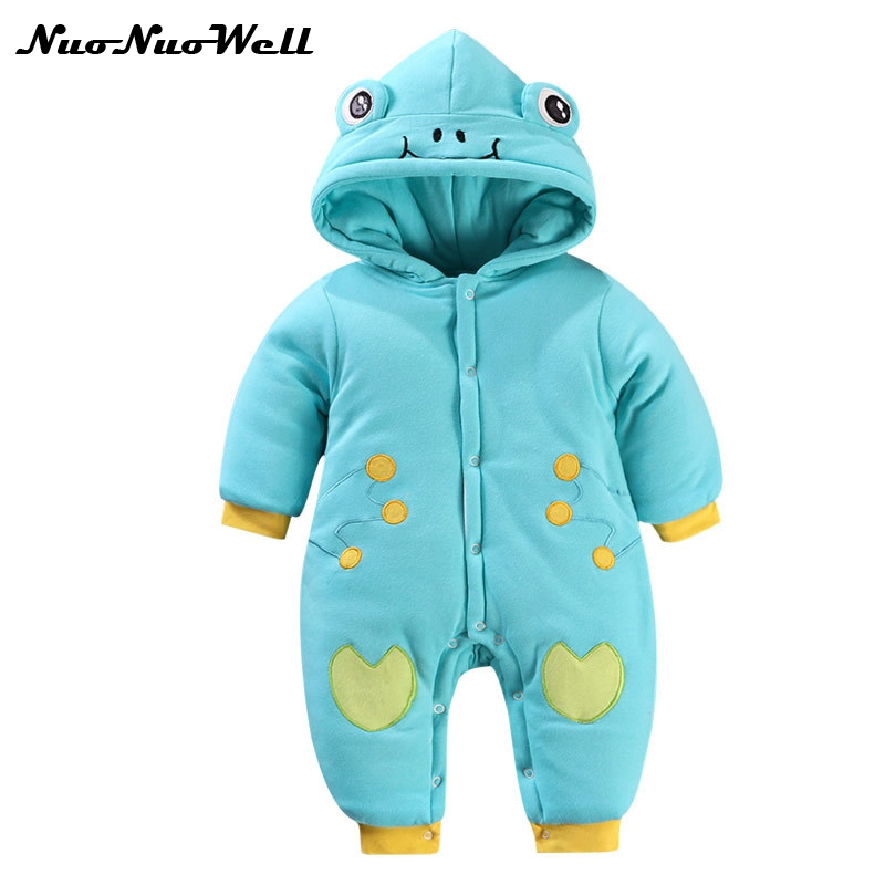 NNW 2017 Winter Baby Rompers Boys Girls Thick Coat Parkas Suit Children Clothing Romper Newborn Kids Clothes Thick Jumpsuit Set