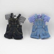 Наряды для куклы Blyth, джинсовые комбинезоны для куклы размером 12 дюймов, боди, классная одежда, фабрика Blyth