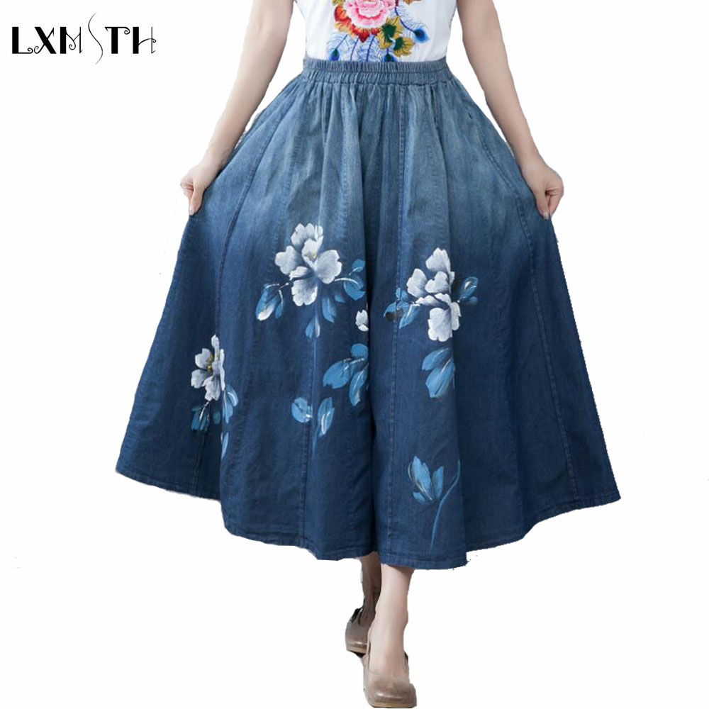 Online Get Cheap Long Denim Skirts for Women -Aliexpress.com ...