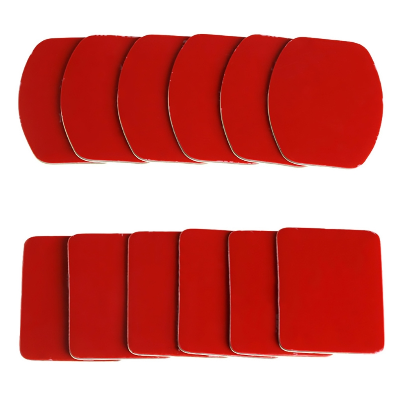 New 3M 12pcs Flat Curved Helmet Mount Adhesive Pads For Gopro HD Hero 1 2 3 3+