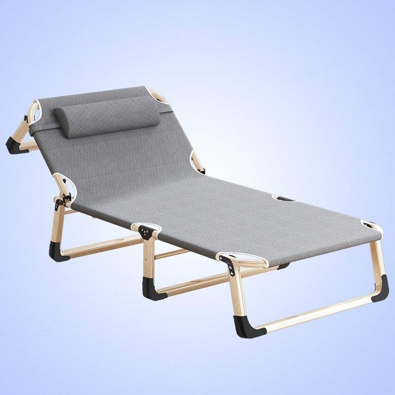 UM Portátil Dobrável Cadeira de Salão Em Casa Escritório Cochilo Cama Cama de Praia Ao Ar Livre Pesados Cadeira Acolchoada Respirável e Confortável