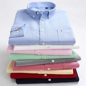 Image 4 - ฤดูใบไม้ผลิใหม่ฤดูใบไม้ร่วง Oxford Mens เสื้อแขนยาวผ้าฝ้ายเสื้อลำลองลายสก๊อต camisa 5XL 6XL ขนาดใหญ่ camisa สังคม masculina