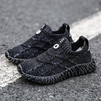 SKHEK chłopcy trampki brązowe czarne buty dla dużych dzieci buty podstawowe uczeń sportowe buty rozmiar butów 27-38 tanie i dobre opinie RUBBER Pasuje prawda na wymiar weź swój normalny rozmiar 10 t 12 t 14 t 13 t 11 t Mesh (air mesh) Slip-on Patchwork Spring Summer Autumn