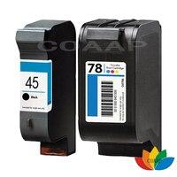 2x Refillable HP45 51645A For HP78 C6578D Ink Cartridges For HP Deskjet 710C 820Cse 820Cxi 920C
