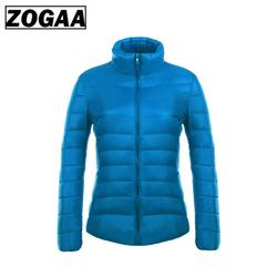 ZOGAA Women's Parkas Winter Jacket Coat For Woman Casual Solid Stand Collar Parka Jackets Female Cotton Coat Slim Fit Outwear 2