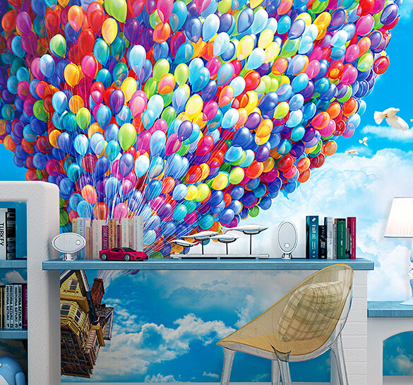 The Mural Modern Decoration Bedroom Living Room Tv Background Home Decor Wallpaper Hot Air Balloon