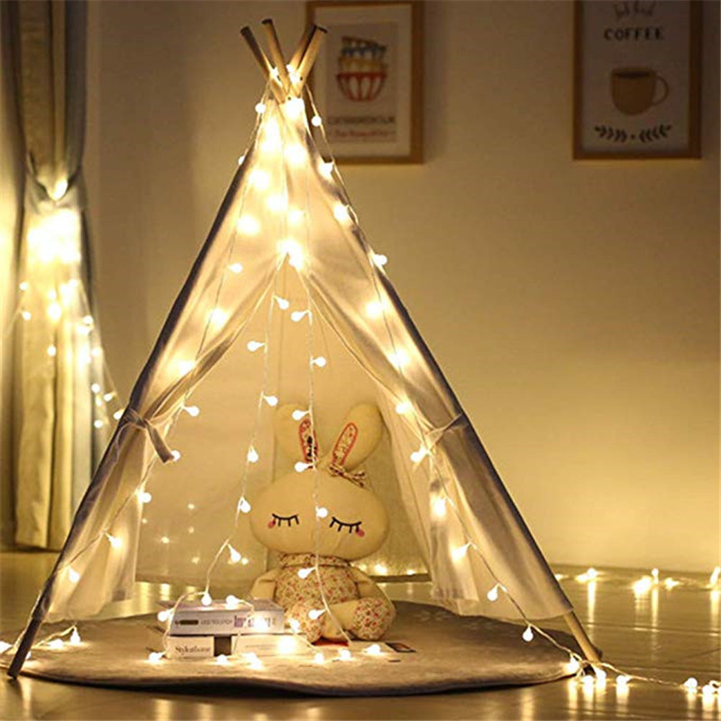 USB 5V Battery 3M 5M 10M Garland Xmas Warm LED Ball String Light Operated Fairy Lights For Christmas Tree Wedding Party Decor in LED String from Lights Lighting