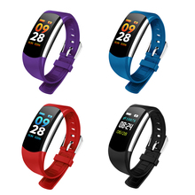 Unisex Color Screen Fashion Smart Band Bracelet Sleep Sport Fitness Pedometer Heart Rate Monitor Wrist Bluetooth Smart Wristband