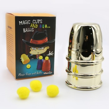 1 Set Cups and Balls Magic Close Up Magic Tricks Professional Magician Trick Magic Prop Gimmick High Quality party magic tricks prop and training set shrinking cards