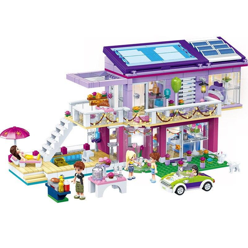 808pcs Children s educational building blocks toy Compatible friends city girls Angela s Fashion party figures