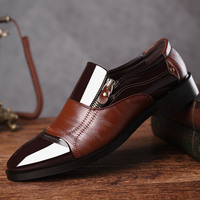 2bed85c342 2019 Fashion Business Dress Men Shoes New Classic Leather Men S Suits Shoes  Fashion Slip On