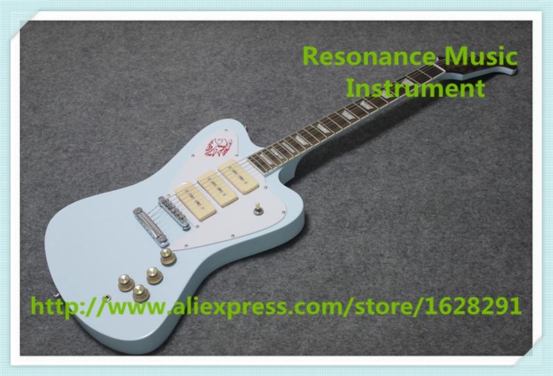 Vente chaude chinois océan bleu finition Suneye Firebird guitares électriques chine OEM personnalisé Guitarra à vendre