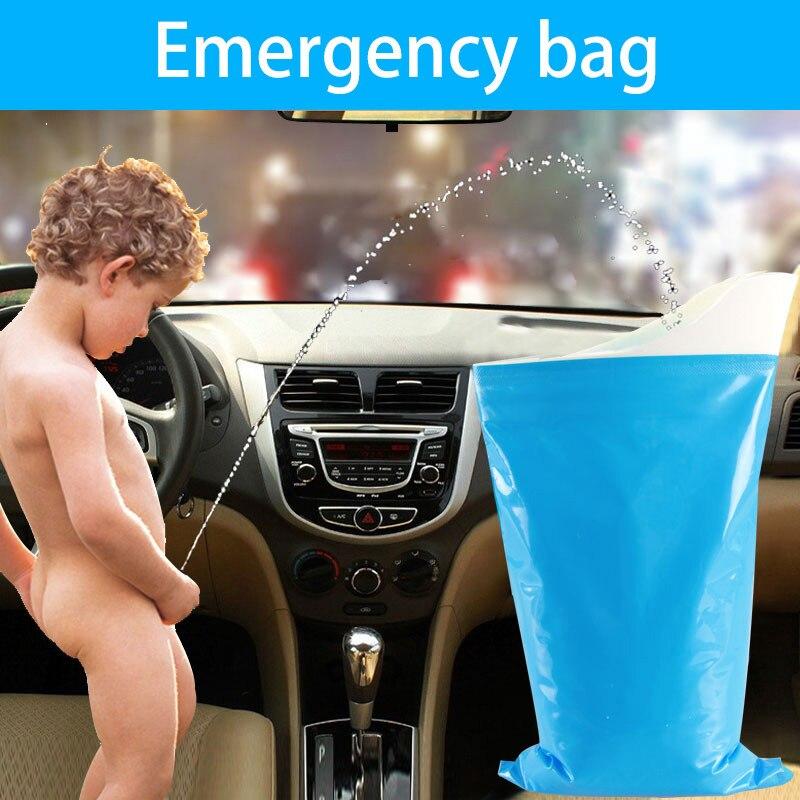 Emergercy Mini Toilet Urine Bag Pee Bags Toilet Female Pee Bag Urine Car Toilet for Men Women Children Portable Travel Urine Bag