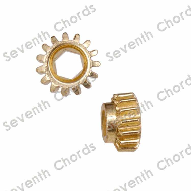 A Set Classical Guitar Tuning Pegs Tuners Machine Heads Gear and Diameter 9.2mm White Pins - Gear Ratio 1:15
