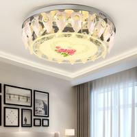 crystal lamp bedroom led ceiling lighting new home simple modern warm long rectangular living room creative China