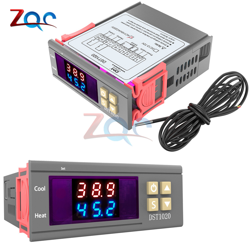 DST1020 Digital Thermostat Humidistat Humidity Temperature Controller Regulator Thermometer Hygrometer Meter replace STC-1000DST1020 Digital Thermostat Humidistat Humidity Temperature Controller Regulator Thermometer Hygrometer Meter replace STC-1000