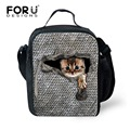FORUDESIGNS Bolsa Termica Cute Animal Cat Ferret Lancheira Termica lunch Bags for Kids Girls Children Lunchbox Bag Insulated