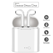 i7s Mini Wireless Bluetooth Earphone With Headphones Charging Box Stereo Earbud Headset Earpiece for iphone Android air pods