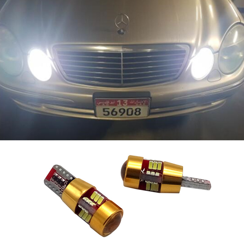 2x T10 194 168 W5W Car LED Bulbs Interior Lamp For Mercedes Benz W211 W221 W220 <font><b>W163</b></font> W164 W203 C E SLK GLK CLS M GL image