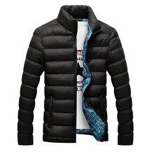 Мужская зимняя куртка с хлопковой подкладкой, толстая приталенная стеганая парка с длинными рукавами, теплая верхняя одежда, 2020