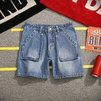 jeans short men shorts men jeans summer new big size 5xl male large pockets loose denim shorts