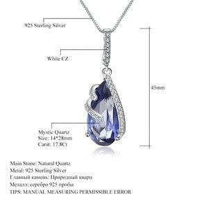 Image 5 - Gem S Ballet 17.8Ct Natuurlijke Ioliet Blue Mystic Quartz 925 Sterling Zilveren Vintage Kettingen Voor Vrouwen Fijne Sieraden