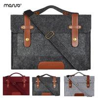MOSISO 13 13.3 15 15.6 inch Felt Laptop Bag Case for Macbook Men Women Handbag Briefcase Bags Notebook Messenger Shoulder Bag