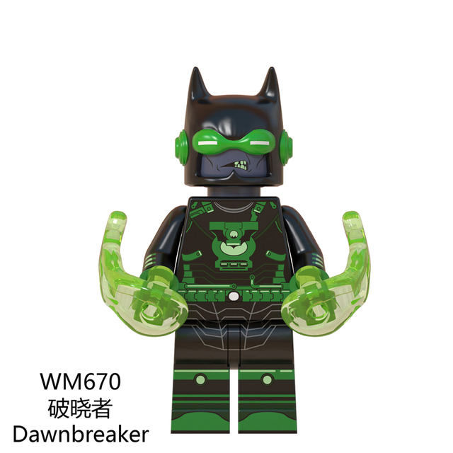 DC Comics Lantern Merciless Drowned Red Death Batman Dawnbreaker Dark Evil Lantern Aquamn Flash Building Blocks Toywm6057