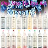 18 colori FAI DA TE Kit Tessuto di Un Passo Tie Dye Tessile Tessile Arti del Mestiere Vernice Permanente Vestiti di Colore della Tintura di Alimentazione