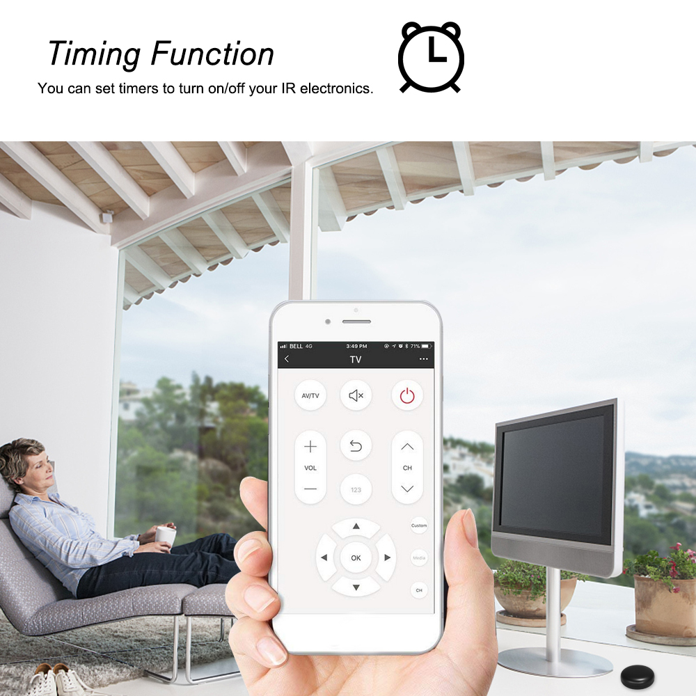 WiFi-IR Remote Control Hub Wi-Fi Enabled Infrared Universal Remote Controller For Air Conditioner TV Using Tuya Smart Life APP