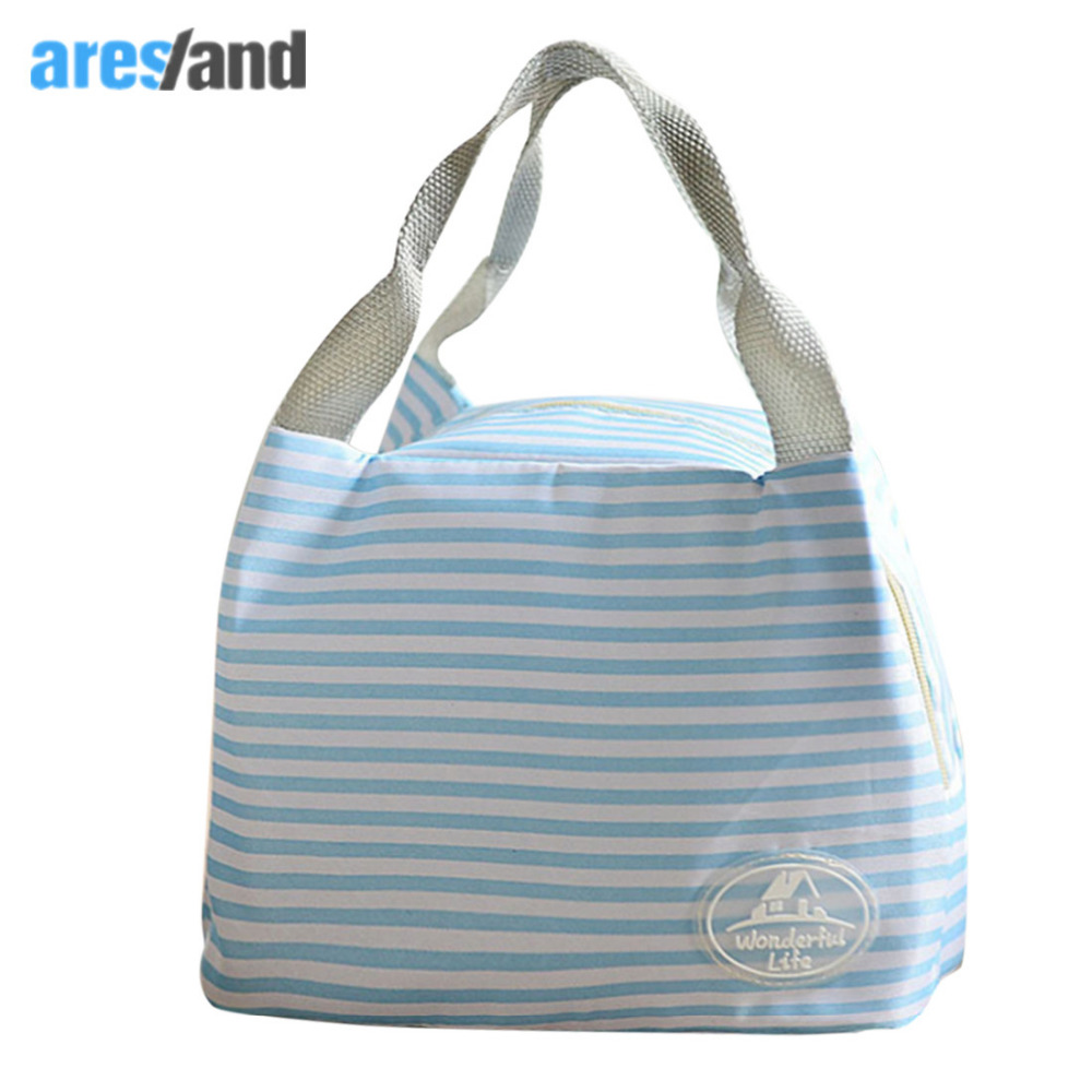 Aresland insulated lunch bag for women kids thermal cooler Picnic Food Bags for Women  Lady Thicken Cold Insulation Thermo Bag aosbos fashion portable insulated canvas lunch bag thermal food picnic lunch bags for women kids men cooler lunch box bag tote