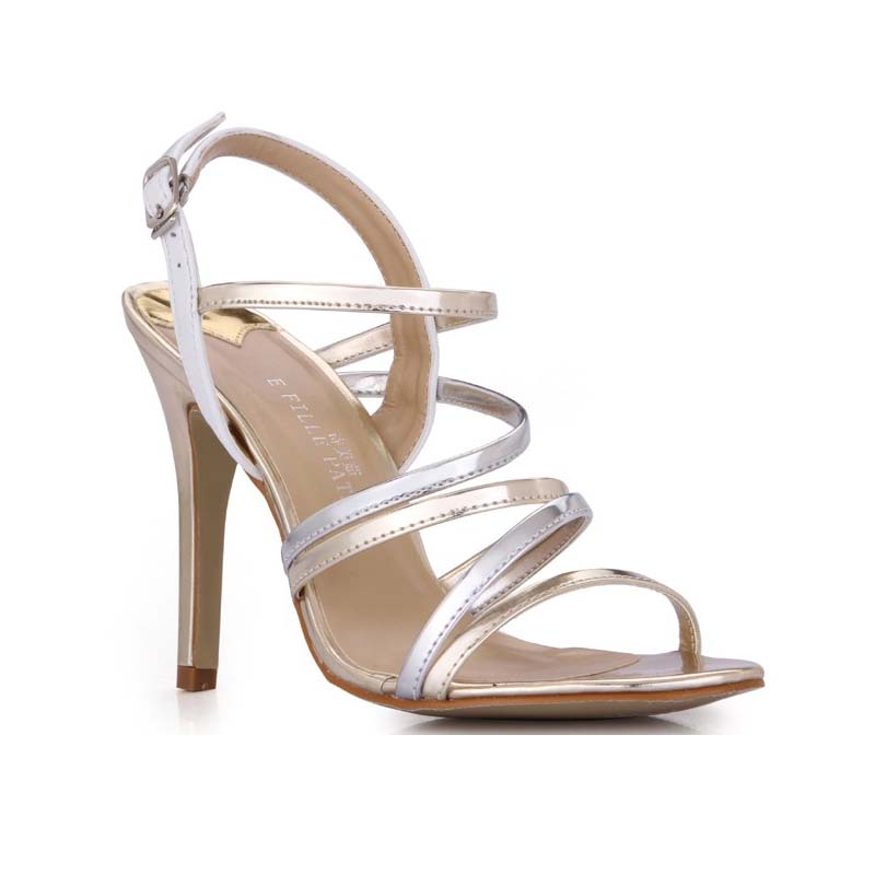 2016 new arrival fashion gold silver patchwork gladiator thin high heels sandals sexy buckle summer fashion party wedding shoes 2017 summer gold gladiator sandals platform wedges creepers casual buckle shoes woman sexy fashion high heels