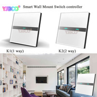 Wall Mount Smart Touch Switch Panel K1 1 Way K2 2 Waysmart Control For Fluorescent Incandescent