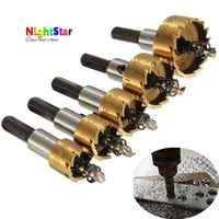 High Quality 5Pcs HSS Drill Bit Hole Saw Set Stainless Steel Metal Alloy 16 18 5