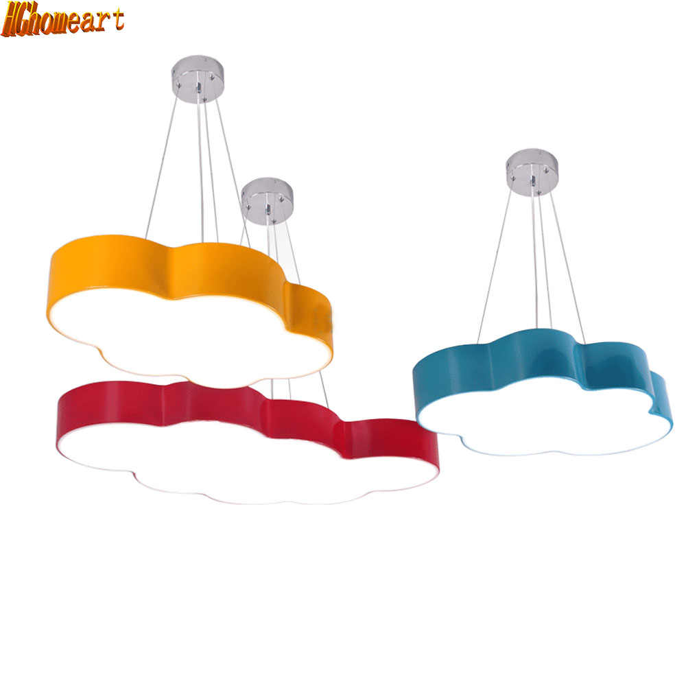 HGhomeart Children Cartoon Chandeliers Simple Modern Led Bedroom Room Lights Creative Personality Amusement Park Lights hghomeart kids led pendant lights basketball academy lights cartoon children s room bedroom lamps lighting