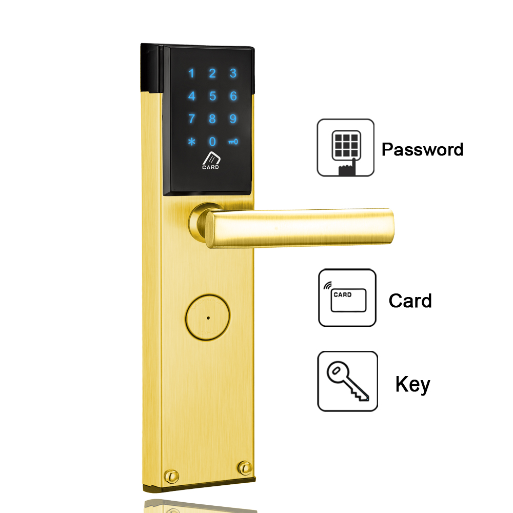Security Electronic Combination Keypad Password Door Lock Keyless Smart Digital Door Lock For Home Office reversible silver smart digital electronic keypad lock keyless door lock with single latch for commercial buildings villas