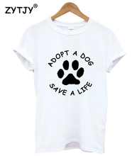 Adopt A Dog Save A Life Print Women T-Shirt
