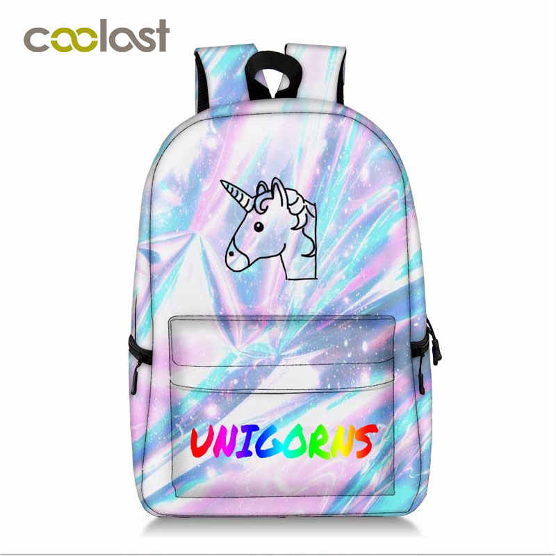 fd5a728e79ae Newly Unicorn Bag Women Laptop Mochila Children School Bags for Teenagers  Girls Boys Students Book Bag