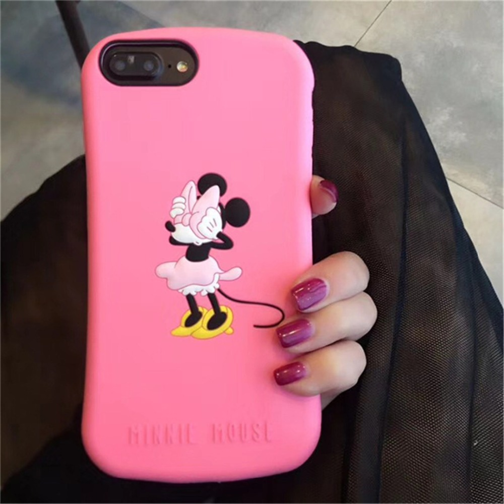 KINBOM Cartoon Mickey Minnie Case For IPhone 7 8 Plus X Sort Anti-Knock Cute Phone Case For IPhone 6 6s Plus Protect Cover Capa