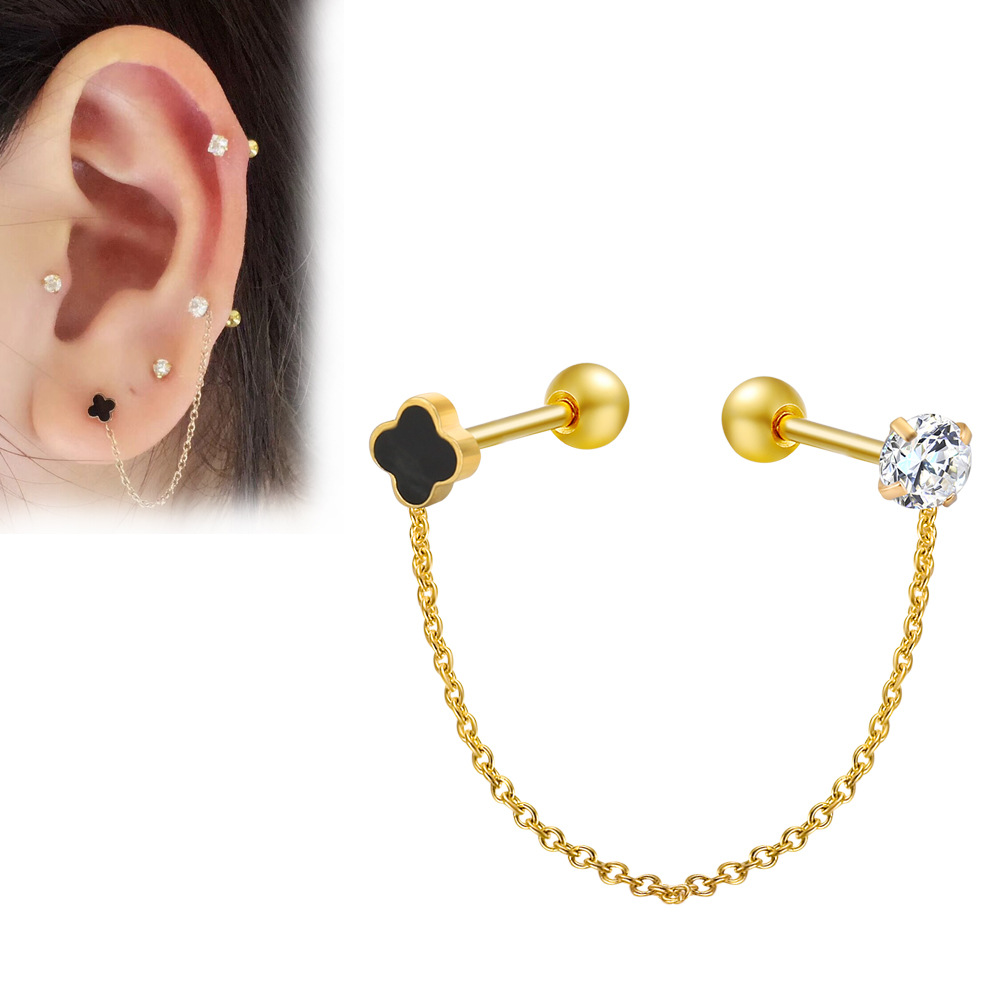 Jewelry & Accessories Body Jewelry Hengke Heart Clip On Closure Ear Ring Tragus Cartilage Earring Helix Five Star 316l Stainless Steel Body Jewelry Nose Ring