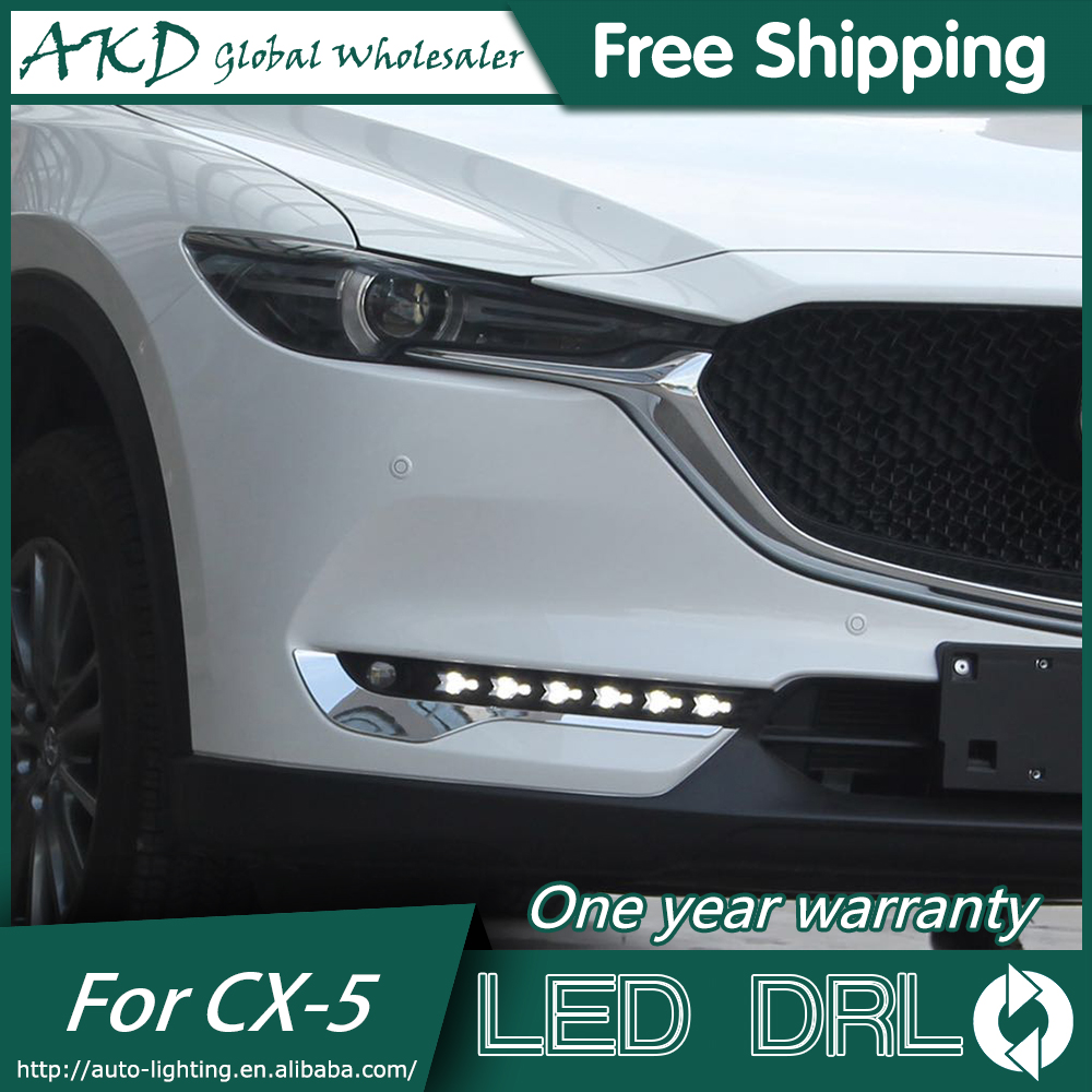 AKD Car Styling for Mazda CX-5 CX5 2017 DRL LED Width Light DRL Signal Light Fog Lamp Daytime Running light Whole set car styling cx 5 taillight 2012 2016 led free ship 4pcs cx 5 fog light car covers cx 5 tail lamp chrome cx 5 cx5